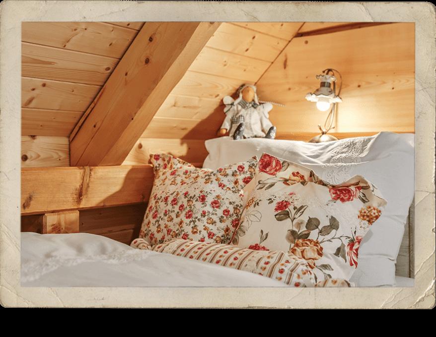 Pohodlná postel, Roubenka Štěpánka – ubytování Svratka, Vysočina