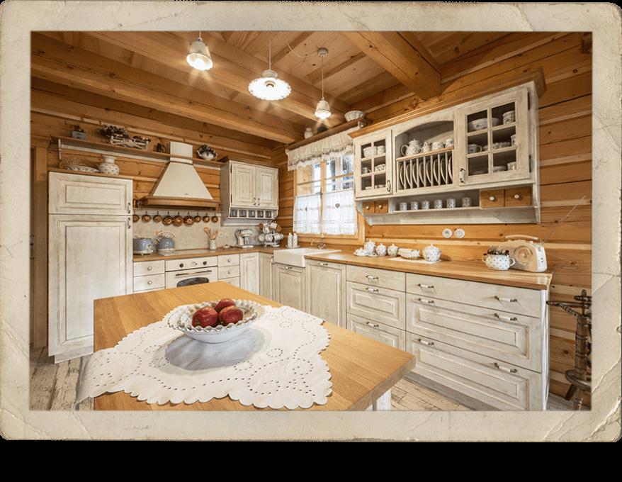 Kuchyně, Roubenka Štěpánka – ubytování Svratka, Vysočina